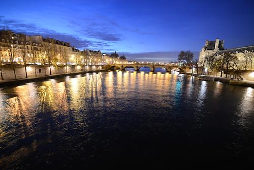 Seine and Musée du Louvre