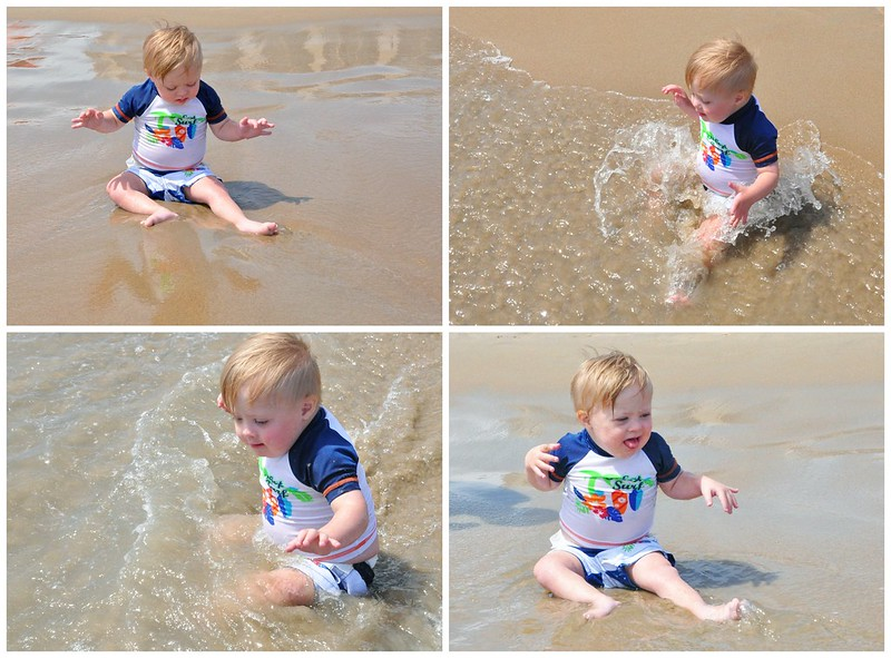 Liam in the waves