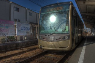 Abikomichi Tramcar Stop on OCT 31, 2015 (10)