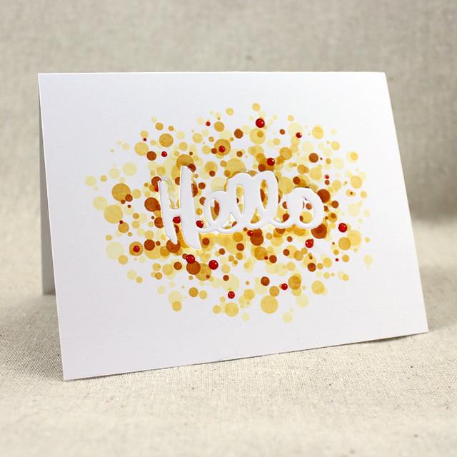 Confetti Hello Card