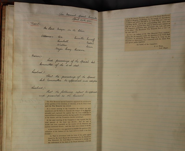 War Memorial Committee Minutes Book 27.04.25