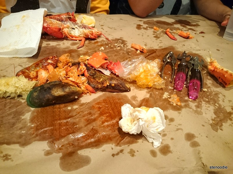 seafood boil aftermath