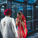 1st-look with Binny & Uttam by micahprofferphotography