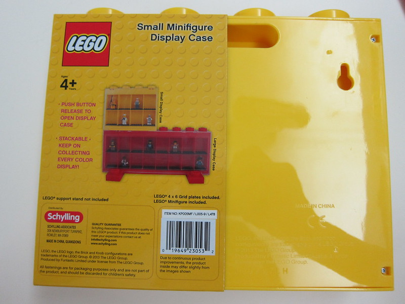LEGO Small Minifigure Display Case - Box Back