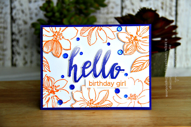 Hello Birthday Girl card