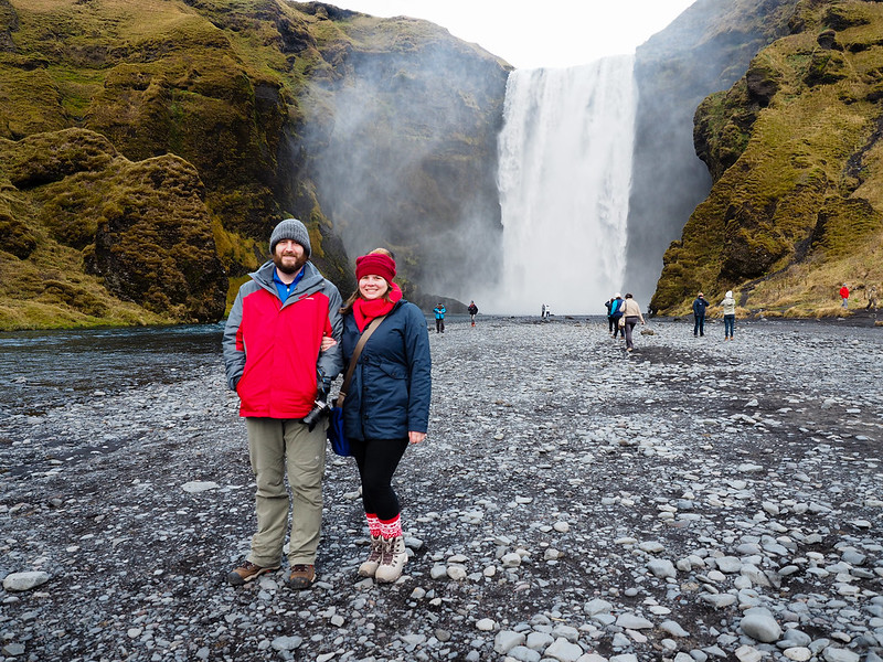 Amanda and Elliot at Skogafoss