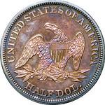 1845 Half dollar reverse