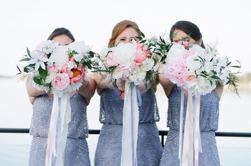 Bridesmaids Bouquets by Boston Pollen shot by Juliette Laura on juliettelaura.blogspot.com