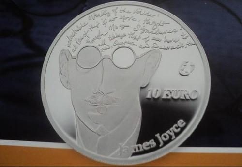 James Joyce coin photo by Niels van Schendel