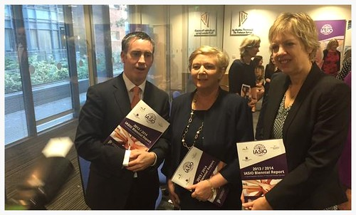 The Minister for Justice launched and was presented with the Biennial Report of the Irish Association for the Social Integration of Offenders (IASIO) for 2013 and 2014