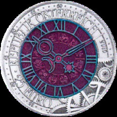 Austria - 25 Euro - Time - Niobium bimetallic coin obverse