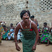 Benin, West Africa, Bopa, woman in trance dancing during a traditional voodoo ceremony by Eric Lafforgue