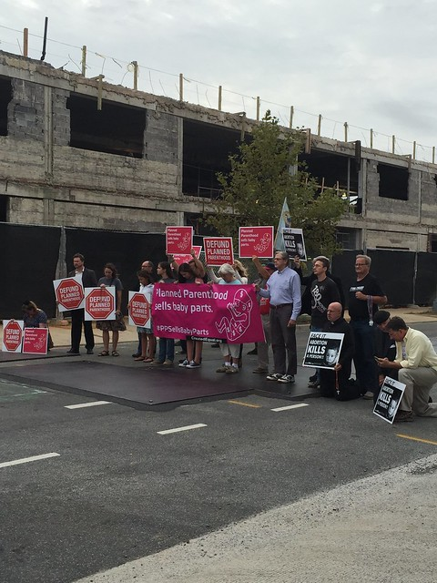 Emily's Photos from Planned Parenthood Construction Protest