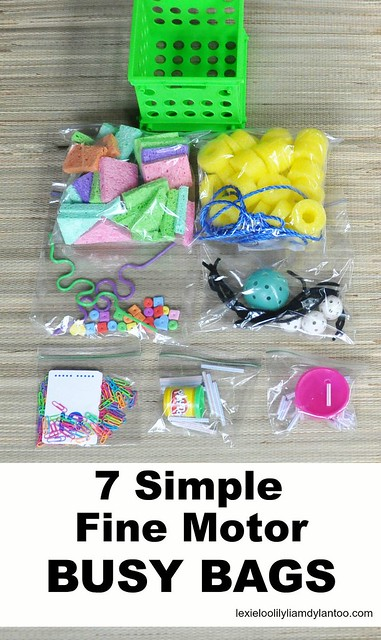 7 Simple Fine Motor Busy Bags