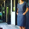 Tilly and Buttons Bettine Dress in RK chambray. #vacationdress #stuffisew #tillyandbuttons #bettine #robertkaufmanfabrics