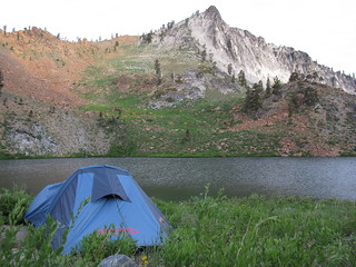Camping in Trinity Alps Wilderness Area