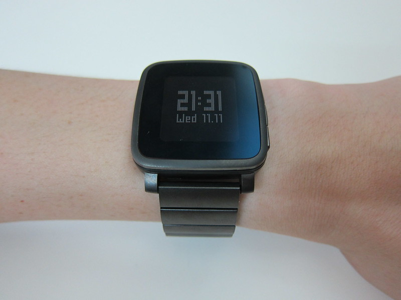 Pebble Time Steel – Gunmetal Black Steel Band