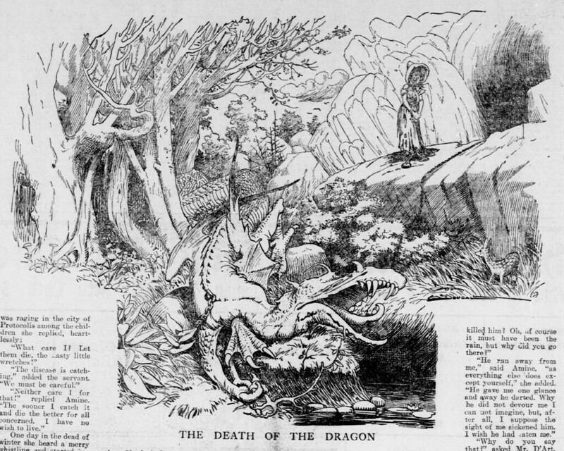 Walt McDougall - The Salt Lake herald., October 18, 1903, The Death Of The Dragon