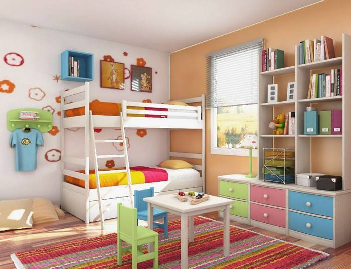 Kid Bedroom Furniture With Red Themes