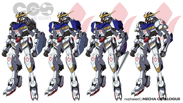 ASW-G-08 Gundam Barbatos - First Four Forms