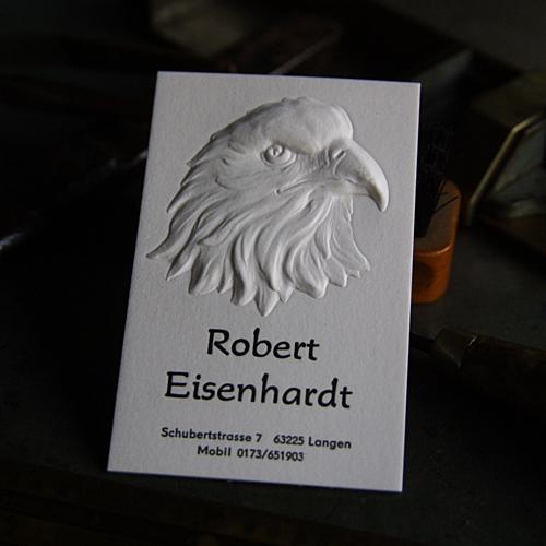 Blindprägung Visitenkarten Mit Blindprägung Robert