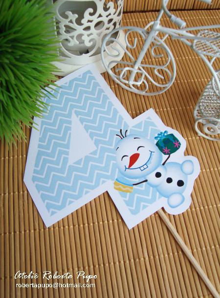 Mini Topo Bolo_Número_Kit Frozen Fever Toppers Docinhos_Kit Frozen Fever #frozenfever #numerodecorativo