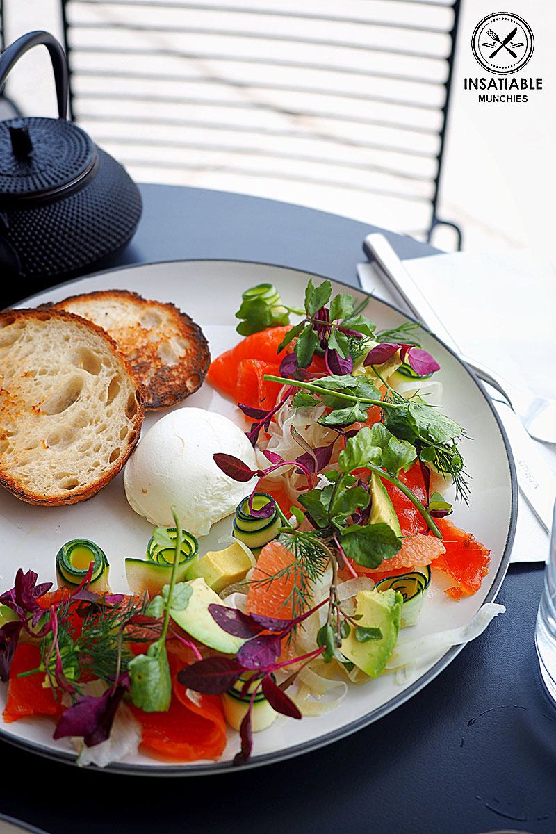 Apple cider cured trout, soft egg, avocado, fennel, zucchini and grapefruit, $20.50. Harry's, Bondi: Sydney Food Blog Review.