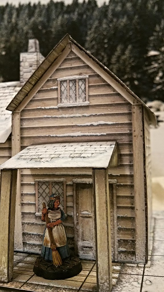 Cutfiles: Frontier House (Winter) by Dave Graffam Models | Cardboard