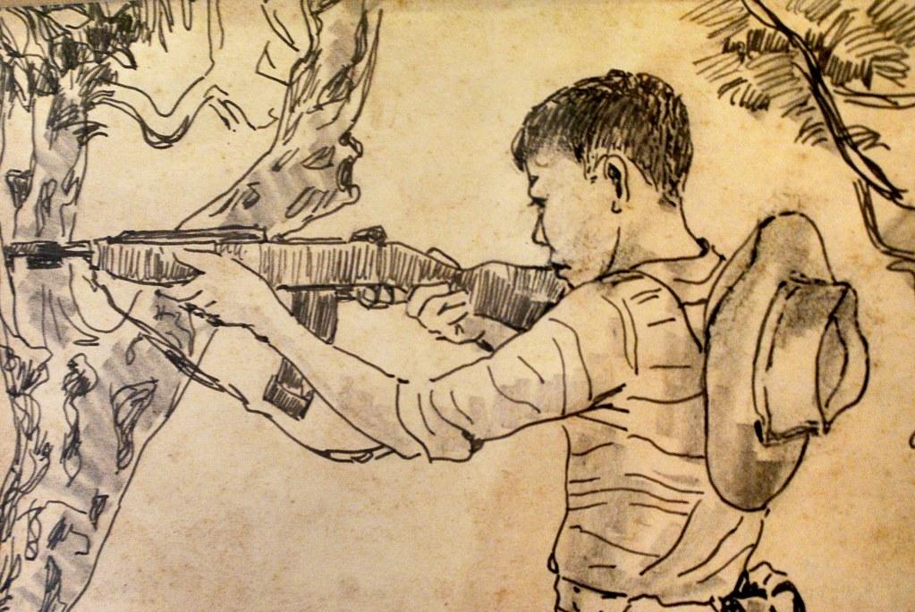 La thématique militaire revient fréquemment dans le oeuvres d'art vietnamienne.