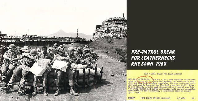 1968 U.S. Marines Relax Before Operation against Communists at Khe Sanh - Press Photo
