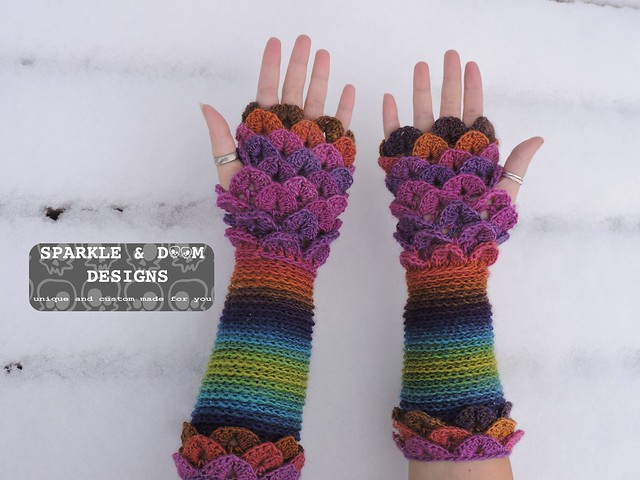 Crocodile FMitts Rainbow01c