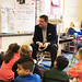 Rep. Tom O'Dea reads to Mrs. Uhlein's class at South School in New Canaan as part of Read Across America Day. March 3, 2017.