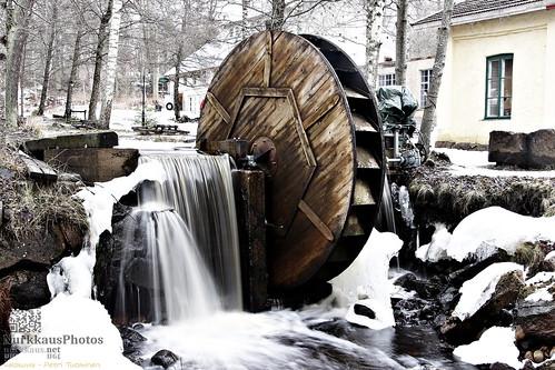 teijonationalpark teijonkansallispuisto talvi winter watermill vesimylly