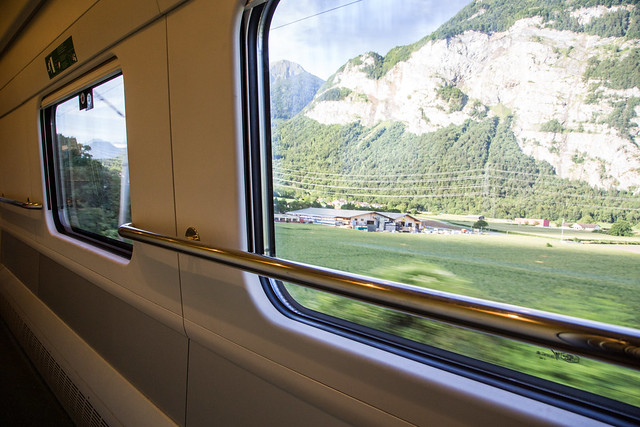 Montreux to Milan by EuroCity ETR610