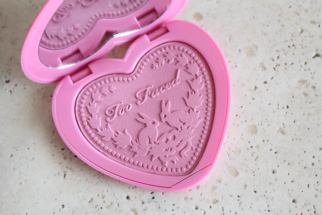 Too Faced Love Flush blush in justify my love review and swatches