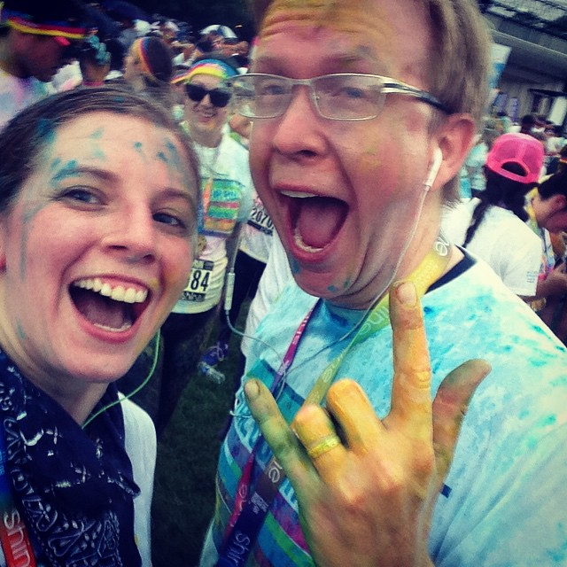 Color Run! Made our goal of 5k in under 30 minutes!