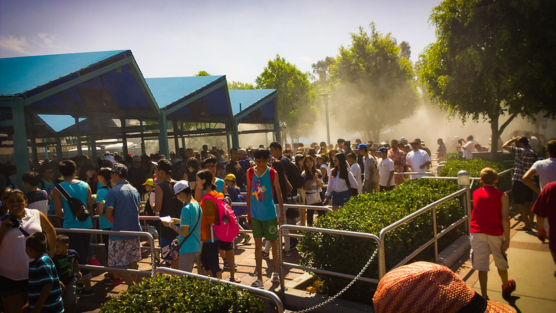 The queue for the Universal Studio - Studio Tour