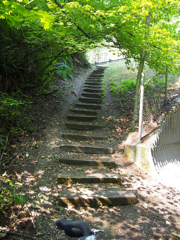 Snoqualmie Valley Trail Staircase: Much easier than the gravel incline!