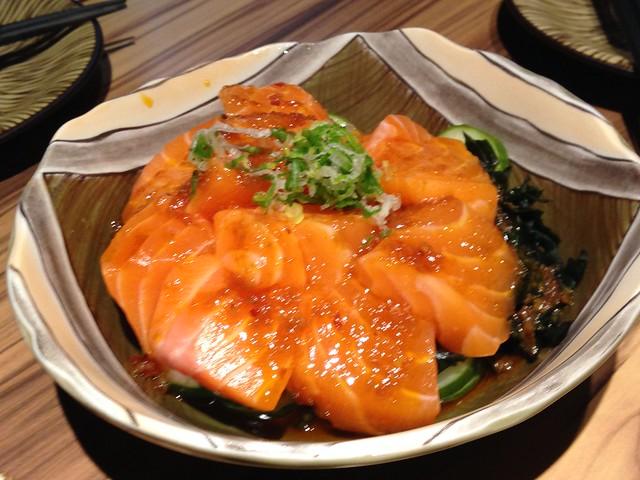 辣味生鮭魚$350@fireweeds野草居食屋