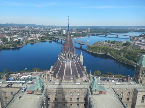 Ottawa - vanaf Peace Tower - Parliament Hill