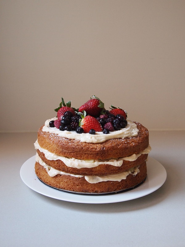 Berry and Apple Cake with Cinnamon Buttercream