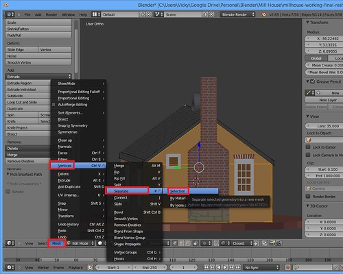 3D Printing - Mill House - Seperate Vertices