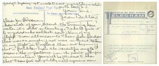Jean Batten Correspondence with Michael Joseph Savage (1936)
