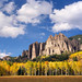 Rock Spires and Aspen by AlexBurke