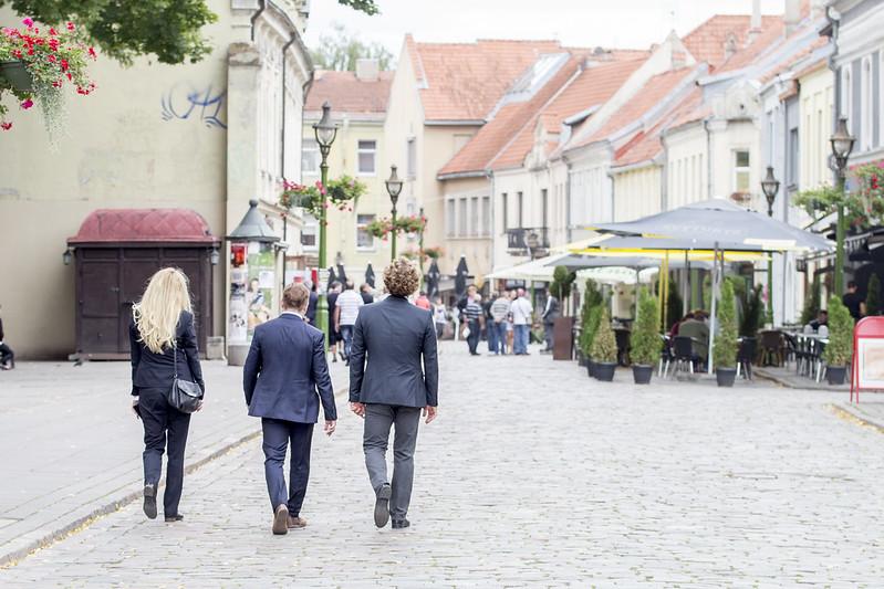 Ulica Wileńska w Kownie - Kaunas, Lithuania