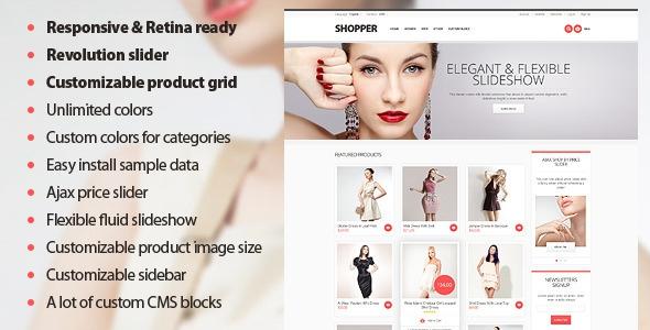 ThemeForest Shopper v2.0 - Magento Theme, Responsive & Retina Ready