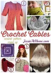 Crochet Cables Collage