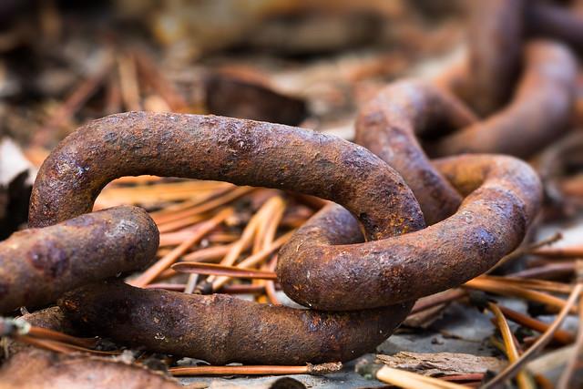weathered chain