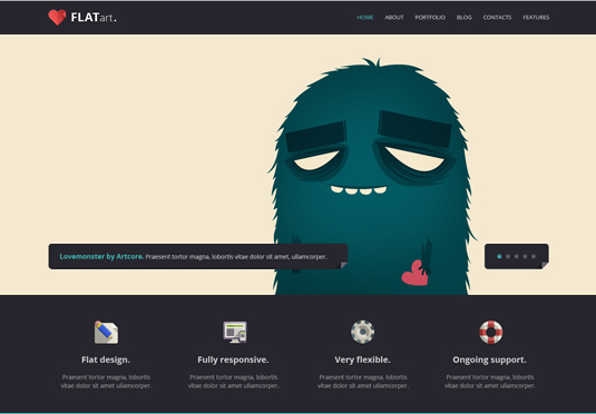 GT3Themes – FlatArt One Page Bootstrap Template