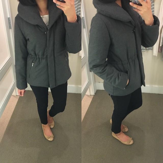 LOFT Shawl Collar Puffer Jacket, size XSP
